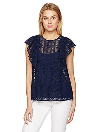 Bcbgmaxazria Womens Nishka Top, Dark Navy, L