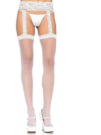 1cfcf66a852 Leg Avenue Womens Sheer Lace Top Stockings with Attached Garter Belt