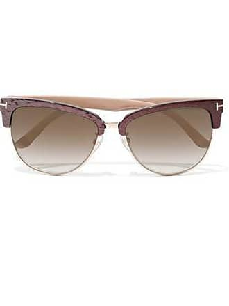 Tom Ford Tom Ford Woman Fany D-frame Acetate And Gold-tone Sunglasses Antique Rose Size