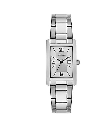 Zales Ladies Caravelle by Bulova Watch with Rectangle Silver-Tone Dial (Model: 43L203)