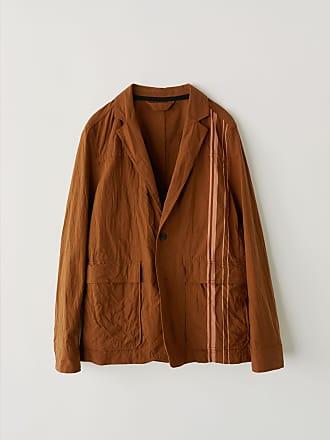 Acne Studios FN-MN-SUIT000025 Brown/Ginger Orange Racing stripe blazer