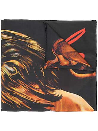 Givenchy Echarpe com estampa de leão - Preto