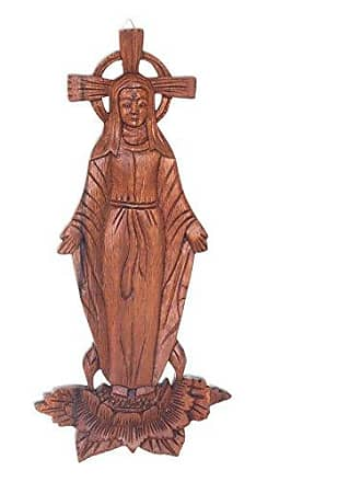 Novica Religious Large Mary Full of Grace Wood Wall Panel