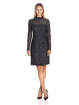 Betsey Johnson Womens The Lace Dress, Black/Heather, 14