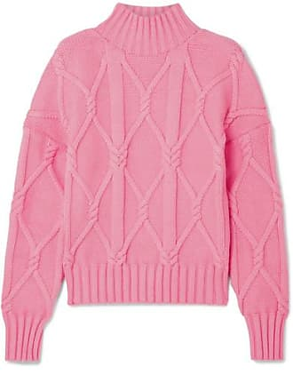 980d6a638 J.crew Tucker Cable-knit Cotton-blend Sweater - Pink