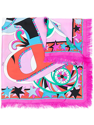 Emilio Pucci printed square scarf - Pink