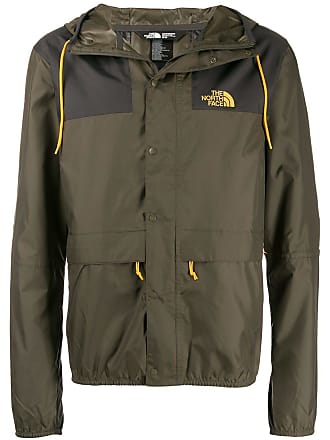 The North Face logo print hooded jacket - Green