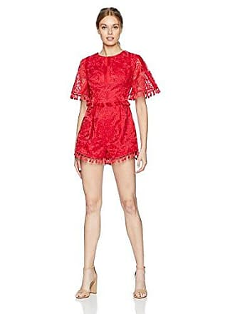 072a232c70a Finders Keepers Womens Spectrum Short Sleeve Tassel Detail Playsuit with Open  Back