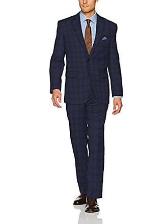 U.S.Polo Association Mens Nested Suit, Blue Plaid, 38 Short