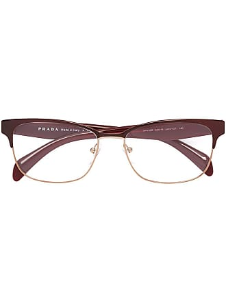 Prada square shaped glasses - Red