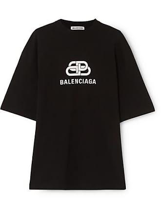 e5bfb456e Balenciaga Oversized Printed Cotton-jersey T-shirt - Black