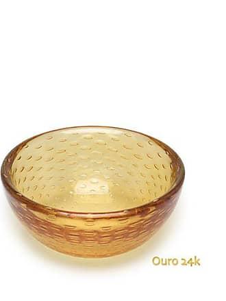 Cristais cá d'Oro Bowl Tela Âmbar com Ouro