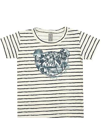 Tigor T. Tigre Camiseta Tigor T. Tigre Manga Curta Bebê Menino Off White