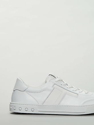 Tod's sneakers in pelle e tessuto bianche