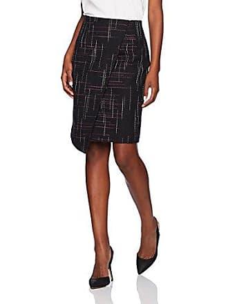 Ellen Tracy Womens Asymmetric Zip Front Pencil Skirt, Aurora Stripe 2