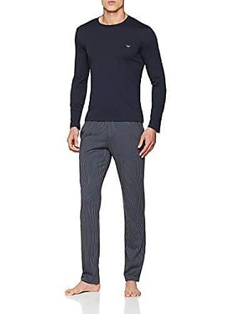 1821b55275cfd Emporio Armani Mens, Bas De Pyjama Homme, Multicolore (Riga Cemento Marine  21142