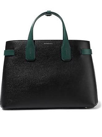 749ce0700 Burberry Burberry Woman Medium Textured-leather Tote Black Size