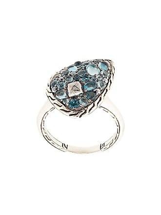 John Hardy Classic Chain topaz and calcite small ring - Silver