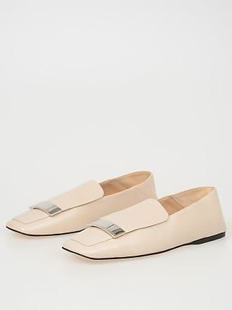 ea83c755ade Sergio Rossi Leather Flat Moccasin size 39
