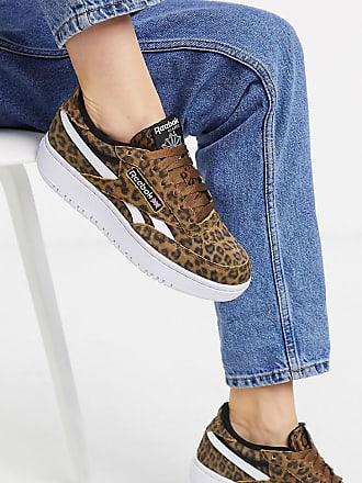 Reebok Club C Double - Sneaker mit Leopardenmuster, exklusiv bei ASOS-Weiß