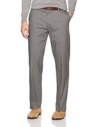 Lee Mens Total Freedom Stretch Relaxed Fit Flat Front Pant, Gray, 34W x 32L
