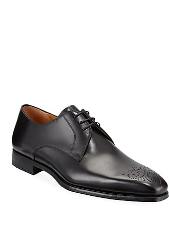 Magnanni Mens Hand-Antiqued Leather Lace-Up Shoes