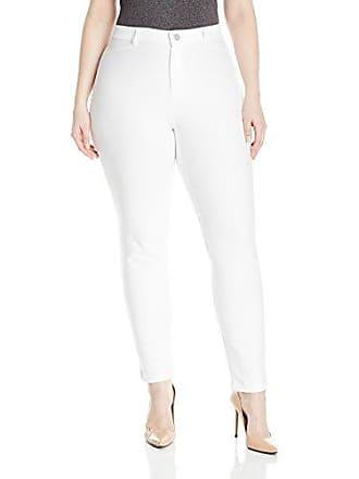 Nic+Zoe Womens Plus Size Knit Denim, Paper White, 22W