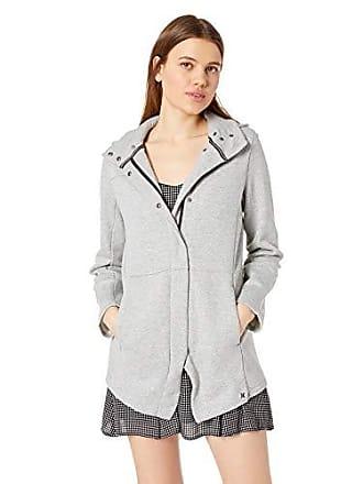 Hurley Juniors Winchester Hoodie Asymmetrical Full Zip Fleece, Dark Grey Heather, M