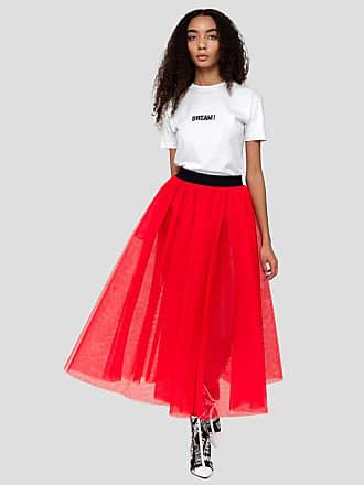 Msgm long skirt in tulle