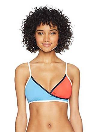 5b2fb1a5 Tommy Hilfiger Womens Nomad Colorblock Wrap Bikini Top, Crew Blue, Small