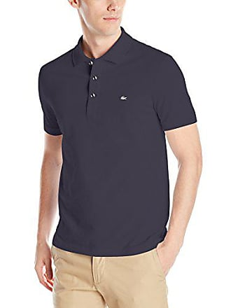 eeaba994 Lacoste Mens Short Sleeve Slim Fit Stretch Petit Piqué Polo, Navy Blue, XXX-