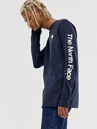 The North Face Half Dome Explore long sleeve t-shirt in navy - Navy