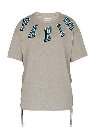 Faith Connexion Paris Print Tie Detail Cotton T Shirt - Mens - Grey