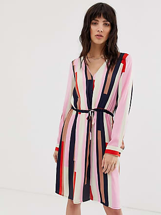 Vero Moda stripe shirt dress with tie waist - Multi