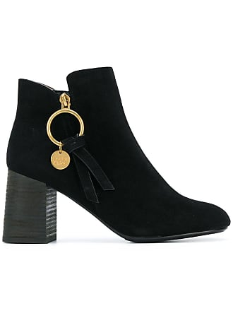 508ace4252bc6 See By Chloé circle zip boots - Black