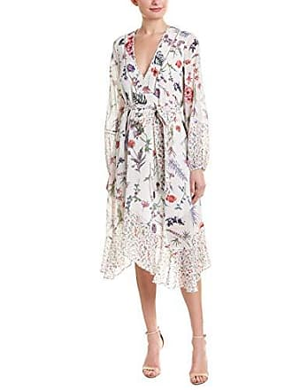 Bcbgmaxazria BCBGMax Azria Womens Mixed Wildflowers Asymmetrical Dress, White, 6