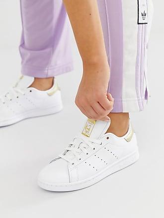 adidas Originals Stan Smith - Sneaker in Weiß und Metallic-Gold