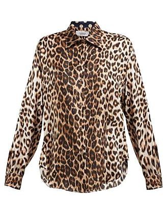 LA PRESTIC OUISTON Varenne Leopard Print Silk Twill Blouse - Womens - Brown Multi
