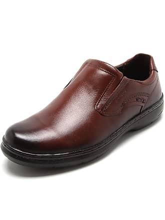 Pegada Sapato Social Couro Pegada Recortes Marrom