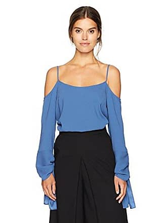 c26ba7ae8ccfb4 Bcbgmaxazria Womens Nicholette Woven Cold Shoulder Top with Exaggerated  Sleeves