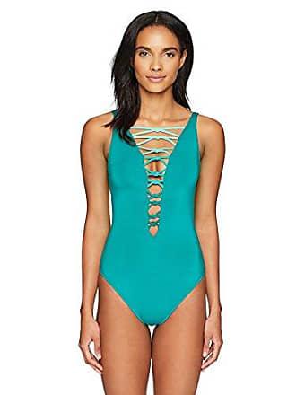 b158d3f12fd3a Bleu Rod Beattie Womens Lace Down One Piece Swimsuit, Knotty Summer Teal, 8