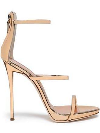 0bc4ada300 Giuseppe Zanotti Giuseppe Zanotti Woman Metallic Mirrored-leather Sandals  Rose Gold Size 39