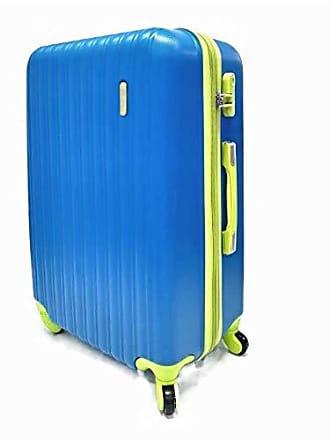 Yin's Mala de Viagem Grande ABS c/Carrinho Expansível Azul e Amarelo YS2019Ara-G