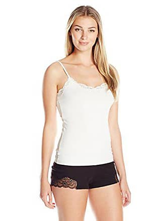 Only Hearts Womens Delicious with Lace Adjustable Strap V-Neck Cami, Creme, Small
