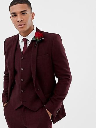Veste de costume rouge bordeaux homme