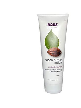 Now Foods NOW Solutions, Cocoa Butter Lotion for Dry and Flaky Skin, with Aloe Vera, Allatonin and Almond Oil, 8-Ounce