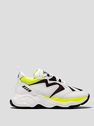 Msgm attack sneaker with fluorescent details