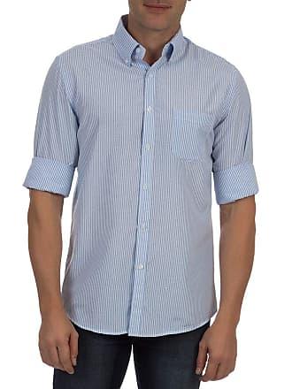 Colombo Camisa Social Masculina Azul Listrada 41915 Colombo