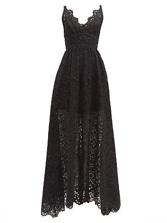 dffa8d71b30 Elie Saab Broderie Anglaise Cotton Blend Gown - Womens - Black