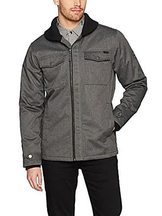 Rvca Mens Midweek Jacket, Charcoal Heather, M